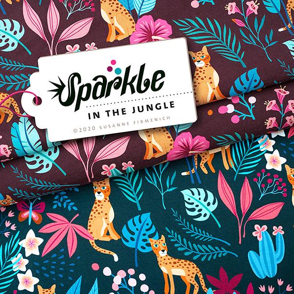 SPARKLE Jersey In the Jungle Jersey GOTS – dunkelgrün | Albstoffe | Hamburger Liebe