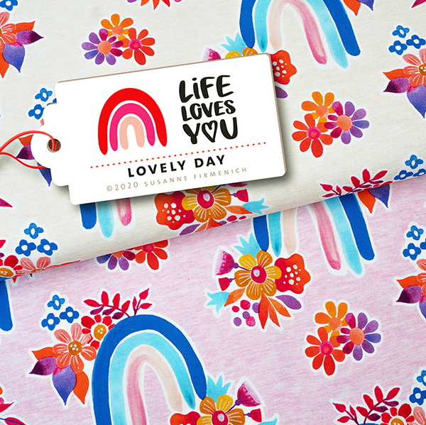 LIFE LOVES YOU Jersey Lovely Day GOTS – nature | Hamburger Liebe