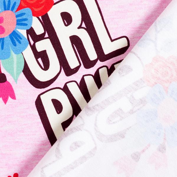 Jersey coton BLOOM Girl Power GOTS – rose | Albstoffe | Hamburger Liebe