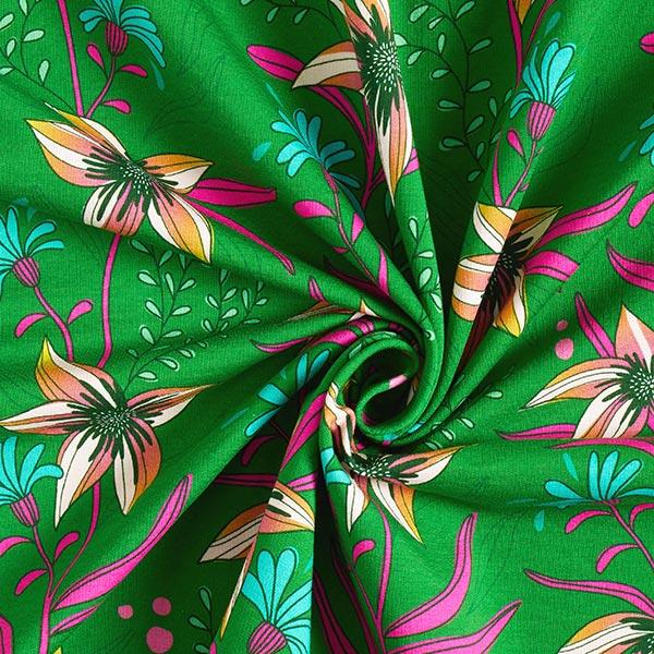 SHINE jersey Flourish And Shine GOTS – vert herbe | Albstoffe | Hamburger Liebe