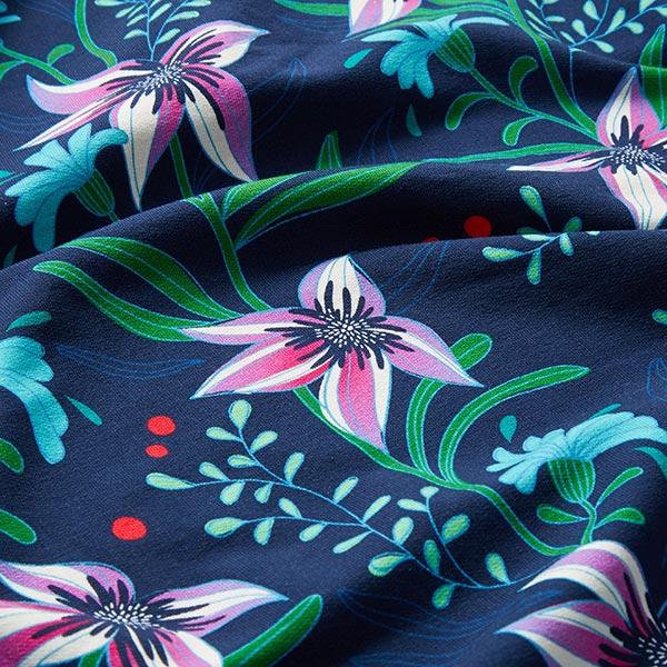 SHINE Jersey Flourish And Shine GOTS – marineblau | Albstoffe | Hamburger Liebe