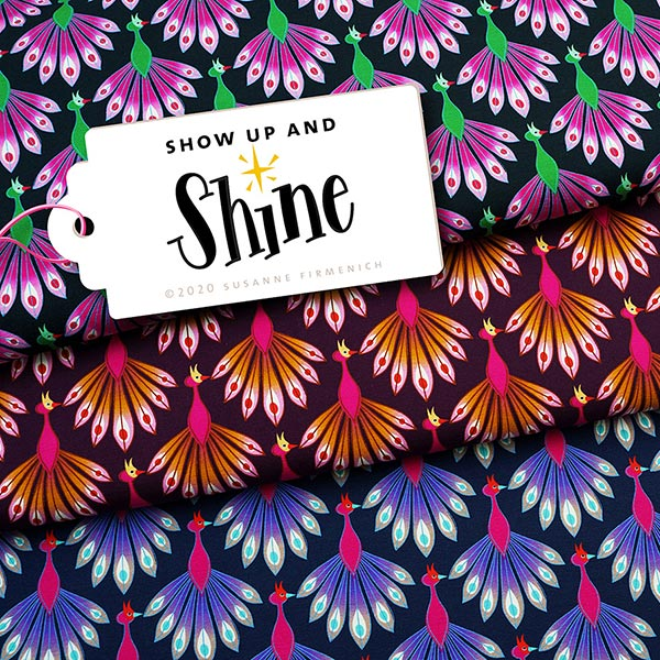SHINE jersey Show Up And Shine GOTS – noir | Albstoffe | Hamburger Liebe