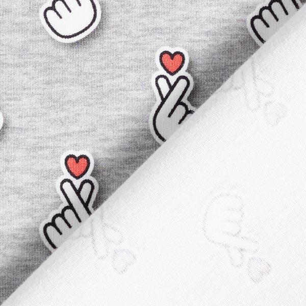 SAKURA Jersey Baby Hearts GOTS – hellgrau | Albstoffe | Hamburger Liebe
