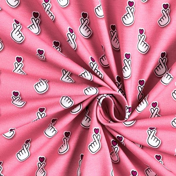 SAKURA Jersey Baby Hearts GOTS – pink   Albstoffe   Hamburger Liebe