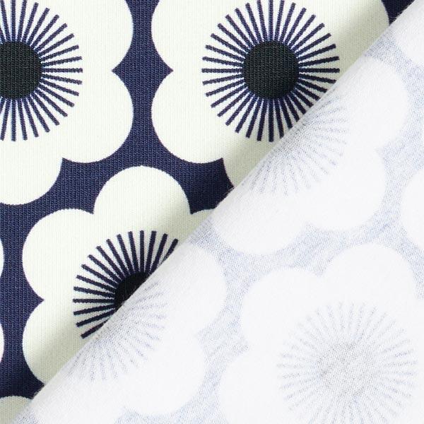 SAKURA Jersey Nippon Flowers GOTS – marineblau   Albstoffe   Hamburger Liebe