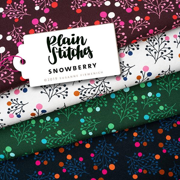 PLAIN STITCHES Snowberry Sweat GOTS – creme | Albstoffe | Hamburger Liebe