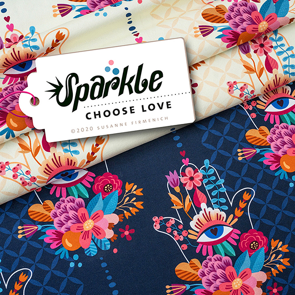 SPARKLE Sweat Choose Love GOTS – marineblau | Albstoffe | Hamburger Liebe