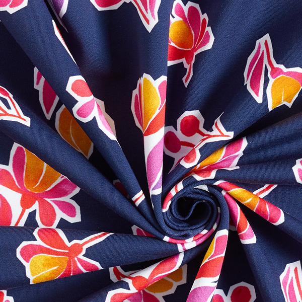 LIFE LOVES YOU Sweat Magnolia GOTS – bleu marine | Albstoffe | Hamburger Liebe