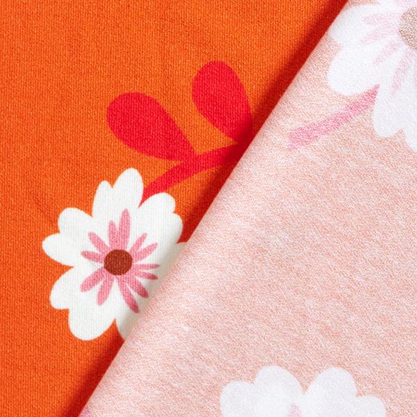 Jersey tencel BLOOM Bloom Hello – orange | Albstoffe | Hamburger Liebe
