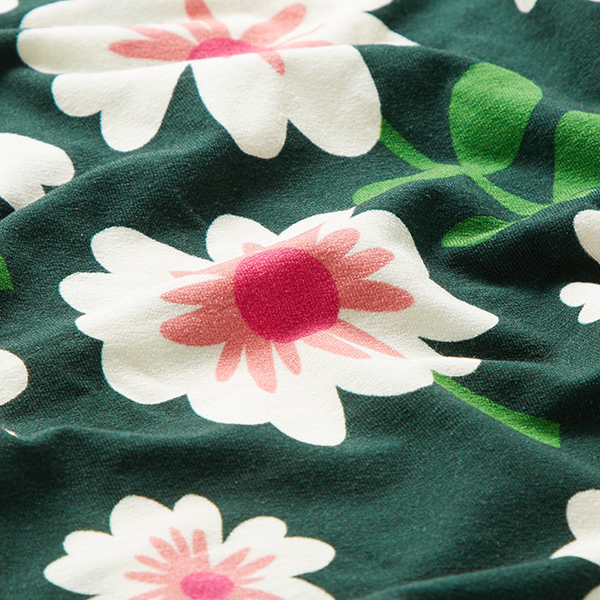 Jersey tencel BLOOM Bloom Hello – vert foncé | Albstoffe | Hamburger Liebe