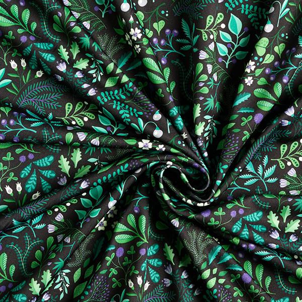 SHIELD PRO Antimikrobieller Jersey Botanical Herbs HHL – schwarz | Albstoffe