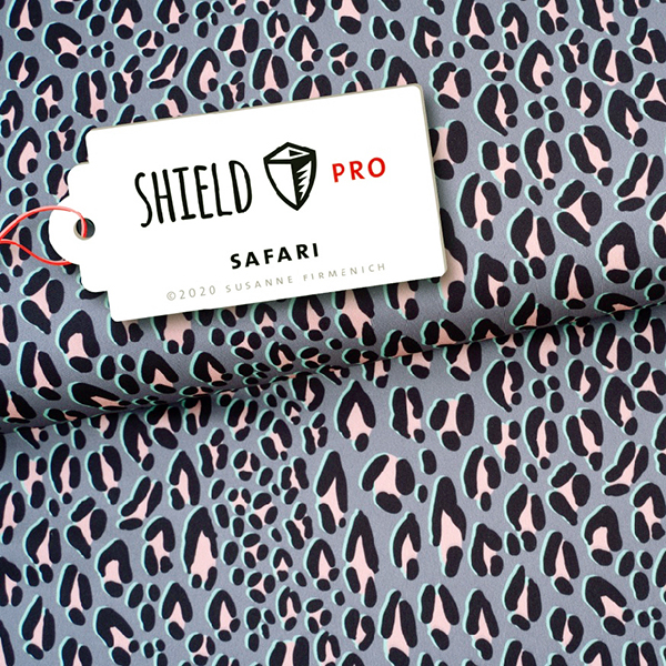 SHIELD PRO Antimicrobien Jersey Leo HHL – gris clair/rose | Albstoffe