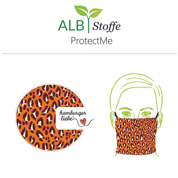 SHIELD PRO Antimicrobien Jersey Leo HHL – terre cuite/rose vif | Albstoffe