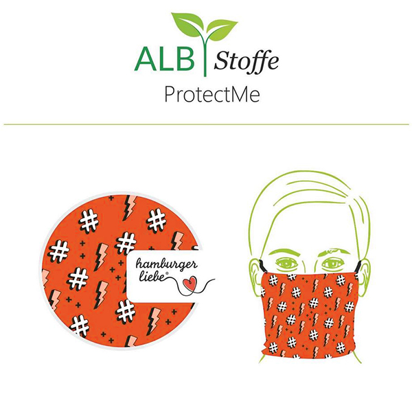 SHIELD PRO Antimicrobien Jersey Hashtag HHL – corail | Albstoffe