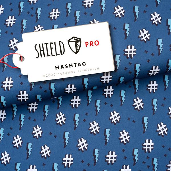 SHIELD PRO Antimikrobieller Jersey Hashtag HHL – blaugrau | Albstoffe
