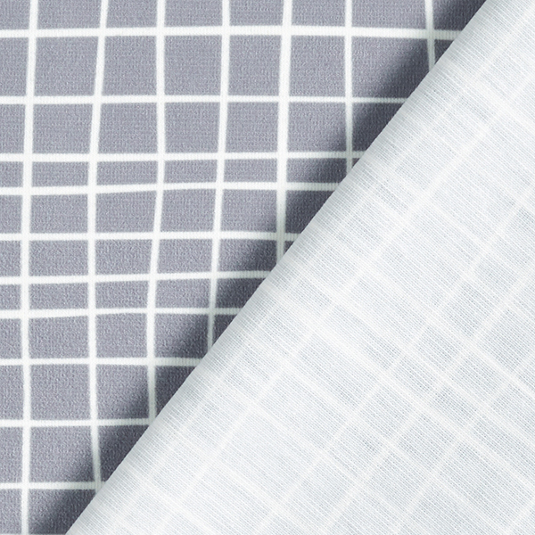 SHIELD PRO Antimicrobien Jersey Grid – gris clair/blanc   Albstoffe