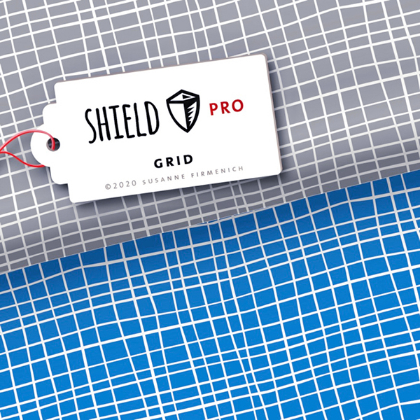 SHIELD PRO Antimicrobien Jersey Grid – bleu roi/blanc | Albstoffe