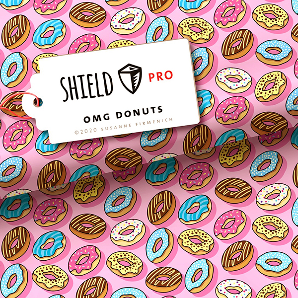 SHIELD PRO Antimicrobien Jersey OMG Donuts HHL – rose clair | Albstoffe