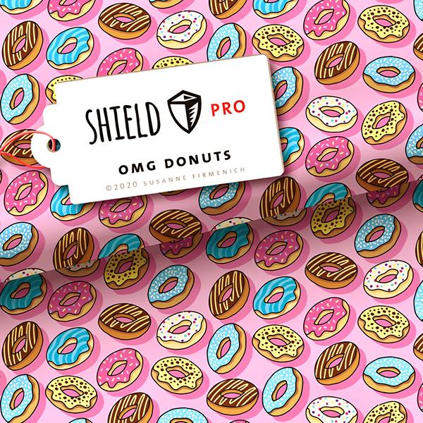 SHIELD PRO Antimikrobieller Jersey OMG Donuts HHL – hellrosa | Albstoffe