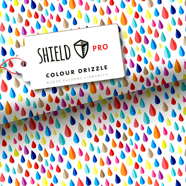 SHIELD PRO Antimicrobien Jersey Colour Drizzle HHL – blanc | Albstoffe