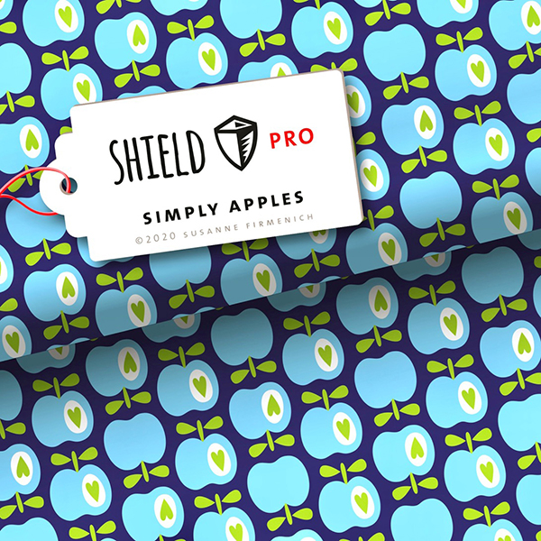 SHIELD PRO Antimikrobieller Jersey Simply Apples HHL – marineblau | Albstoffe