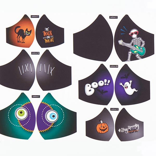 SHIELD PRO MASQUE Jersey antimicrobien Halloween rond | Albstoffe