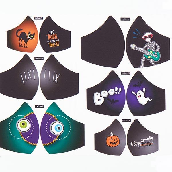 SHIELD PRO PANEL Antimikrobieller Jersey Halloween rund | Albstoffe