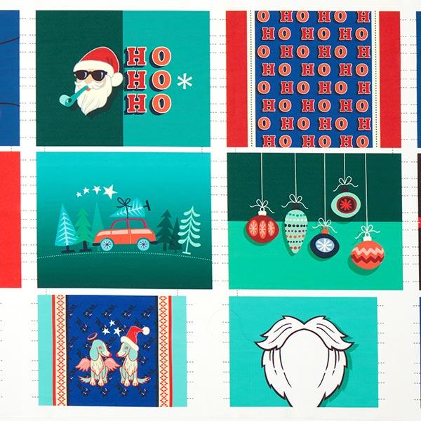 SHIELD PRO PANEL Antimikrobieller Jersey Christmas eckig | Albstoffe