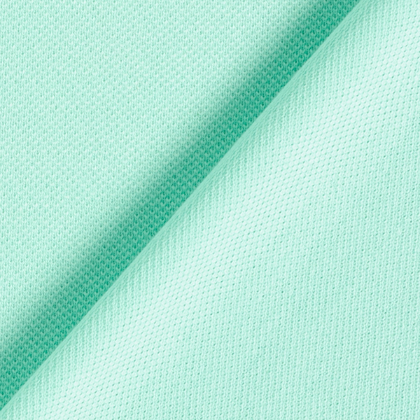 POLO ME Jersey piqué Uni GOTS – turquoise | Albstoffe | Hamburger Liebe
