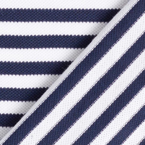 POLO ME Jersey piqué Rayures GOTS – bleu marine/blanc   Albstoffe   Hamburger Liebe