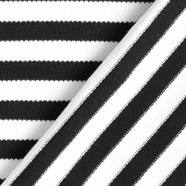 POLO ME Jersey Piqué Streifen GOTS – schwarz/weiss   Hamburger Liebe