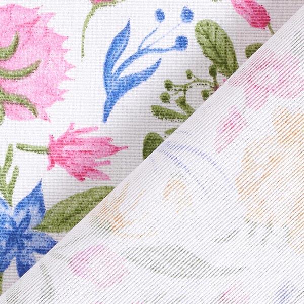 Tissu de décoration Canvas Petites fleurs – rose