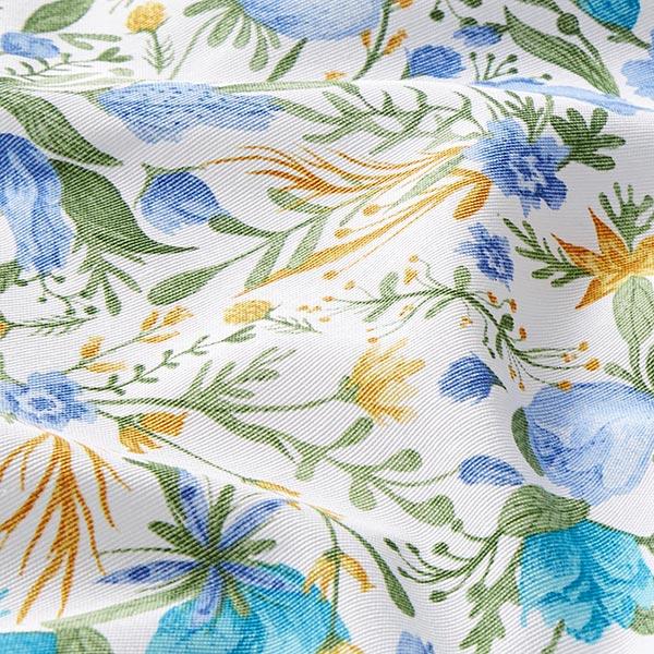 Tissu de décoration Canvas Petites fleurs – bleu