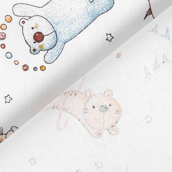 Tissu de décoration Percale Animaux du cirque – bleu clair/blanc