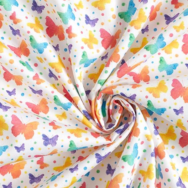 Tissu de décoration Satin de coton Papillons
