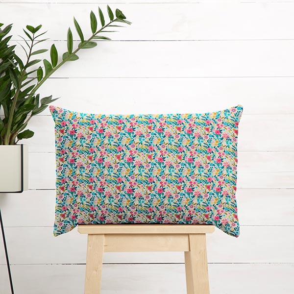 Tissu de décoration Satin de coton Mer de fleurs
