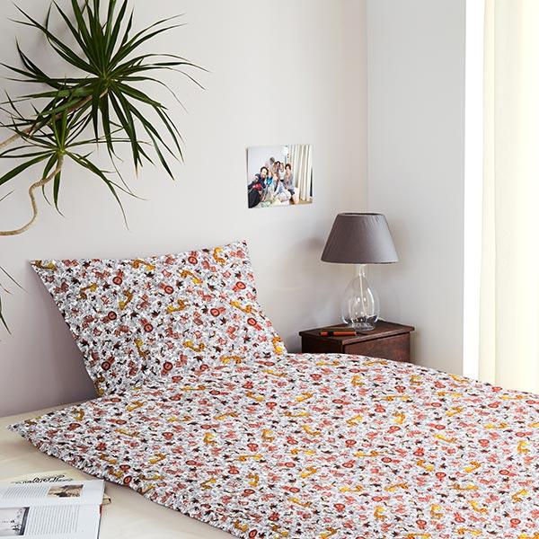 Tissu de décoration Percale Animaux en camouflage – jaune/noir