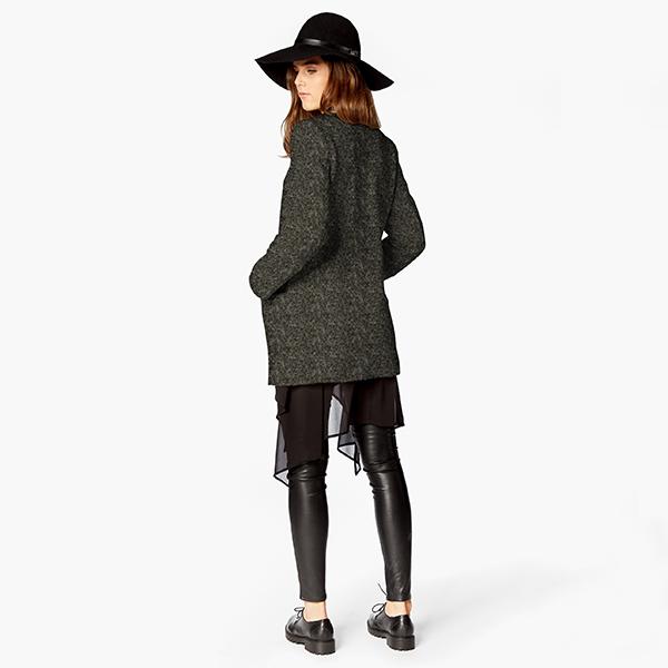Tissu de manteau maille foulé – anthracite