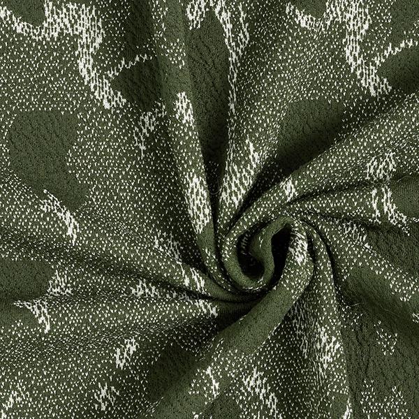 Jacquard jersey camouflage – vert foncé