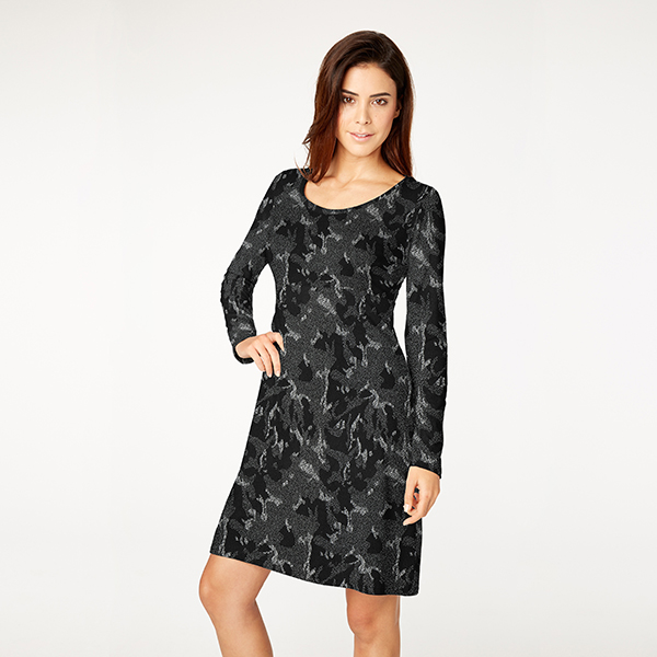 Jacquard jersey camouflage – noir