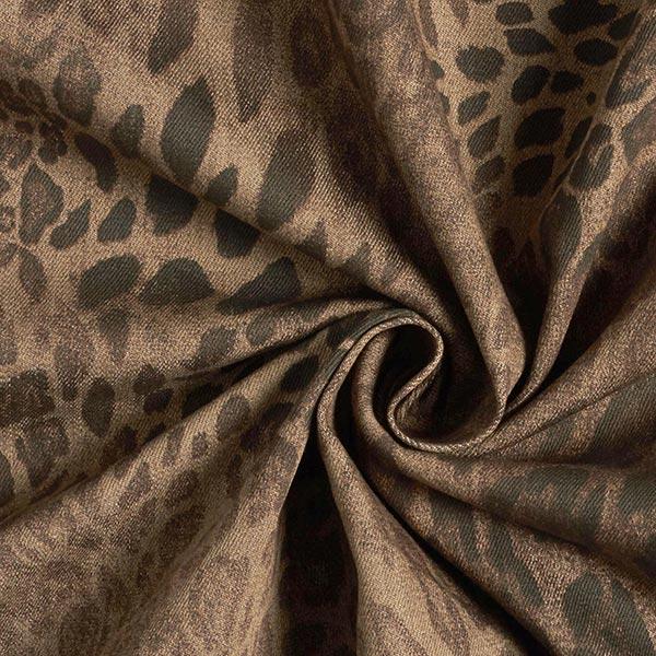 Sergé coton Motif léopard – marron moyen