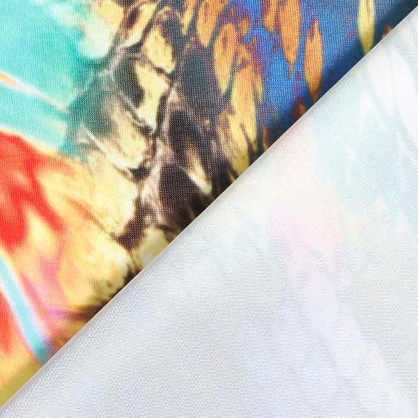 Jersey de polyester oiseau de paradis – jaune