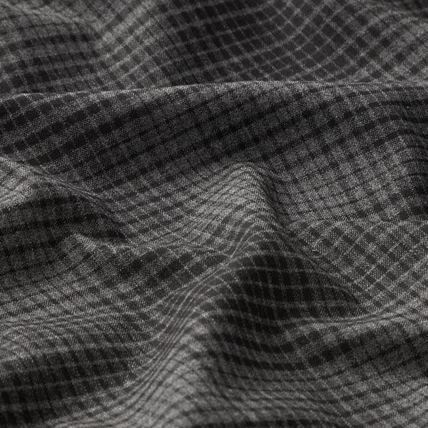 Pantalon en coton stretch carreaux irréguliers – anthracite