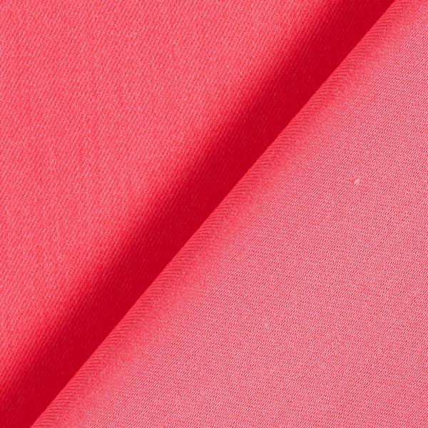 Pantalon en coton stretch en coton uni – rose vif