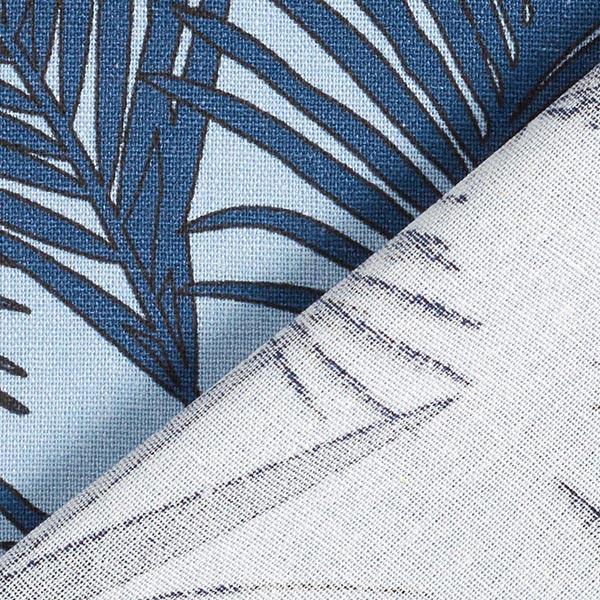 Mélange viscose lin Feuilles de palmier – bleu jean/bleu marine