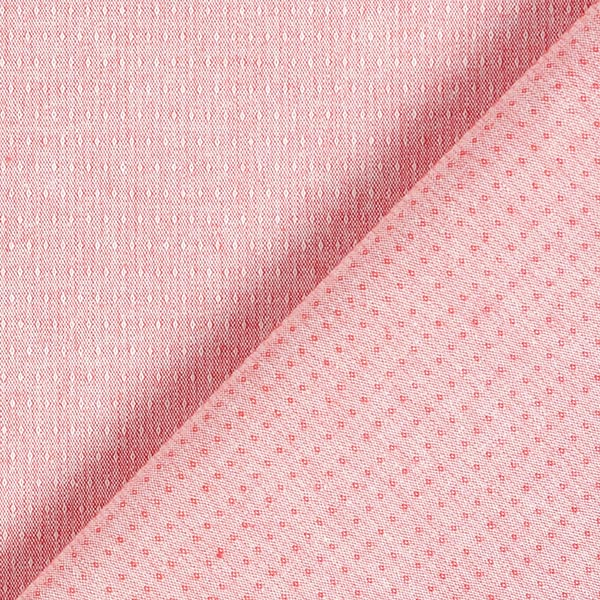 Tissu coton stretch structure – rouge clair