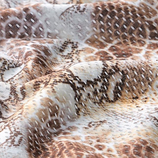 Jersey ajouré Imprimé léopard – marron