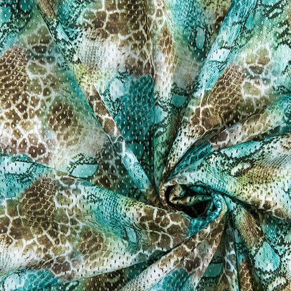 Jersey ajouré Imprimé léopard – vert