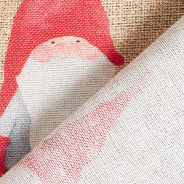 Dekostoff Halbpanama Weihnachtsmann – nature