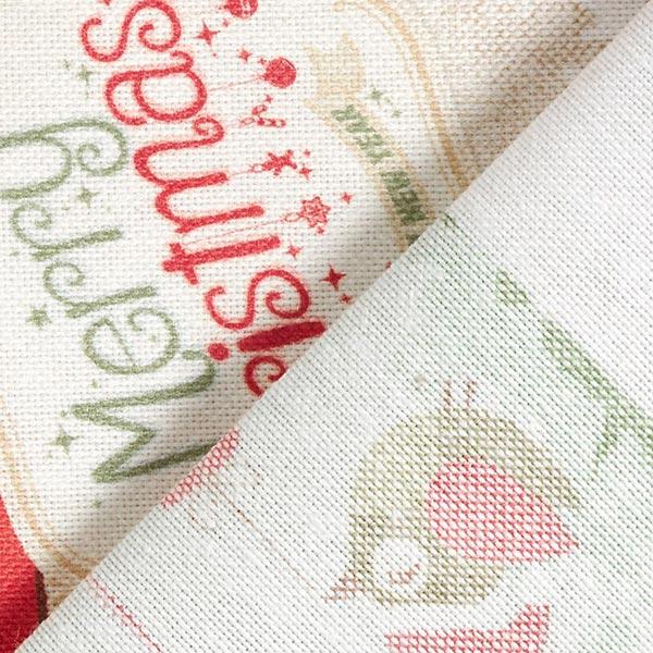 Dekostoff Halbpanama Weihnachtszeit